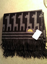 Alpaca Pixel Throw/Blanket – Black/Grey