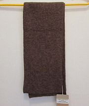 Waffle Scarf – Brown Heather